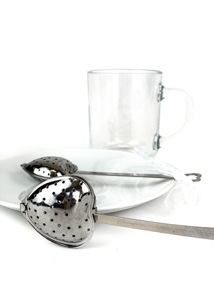 Szív formájú teaszűrő ajándék