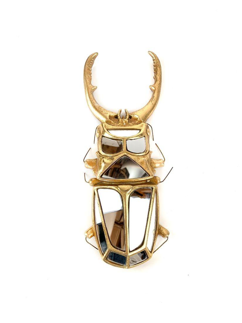 Tükrökkel van kirakott arany szarvasbogár