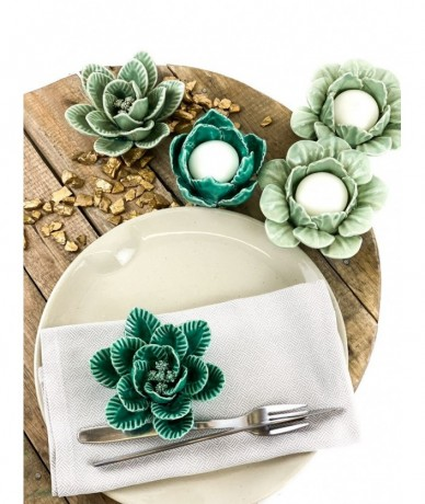 Turquoise ceramic candle holder - accessories in home design