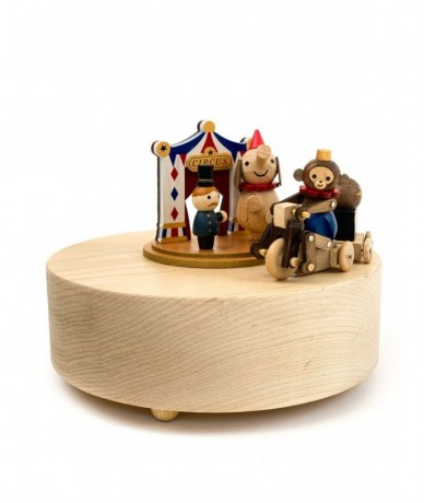 Retro, mobile wooden toy circus - children design toys