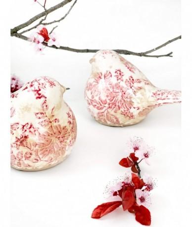 Vintage porcelán madár díszesen