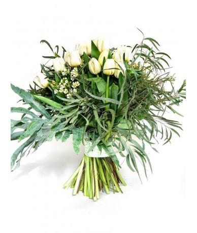 50 szálas fehér tulipáncsokor - Fleurt virágküldő szolgálat