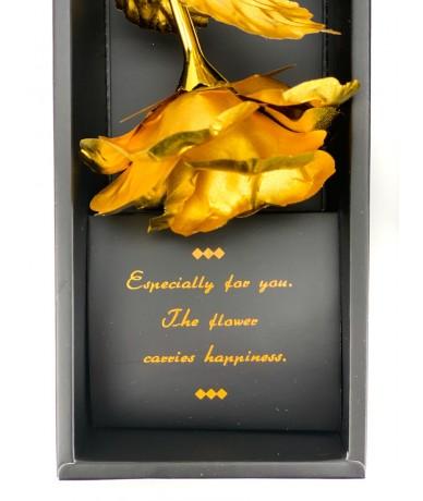 Arannyal bevont 24 karátos fém rózsa