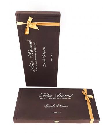 Dolce Presente 36 db-os Csokoládé ajándék fa dobozban- Fleurt ajándékküldés