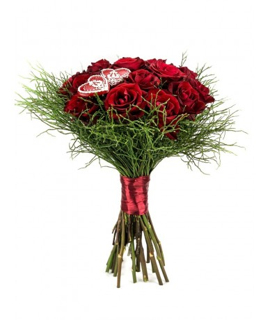 rose bouquet with gingerbread