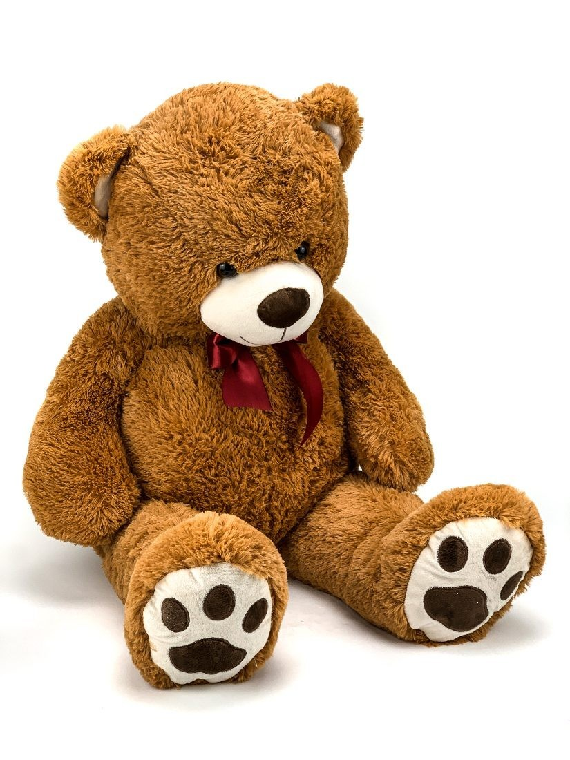 100cm magas barna puha plüss mackó ajándékba s Valentin napra