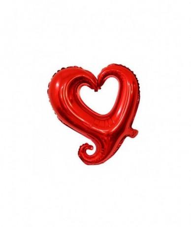 Valentin napi szív alakú lufi levegővel töltve lufi pálcán, mérete: 45 cm.