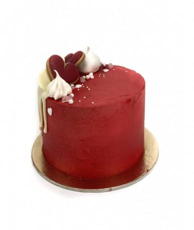 Small chocolate cake decorated, 15cm