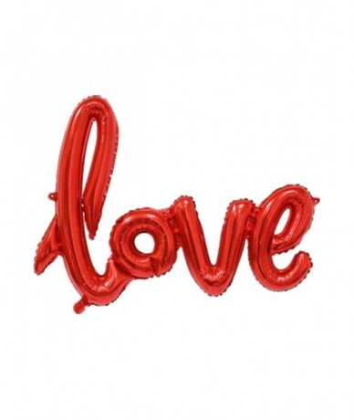 Large Love sign balloon filled with helium
