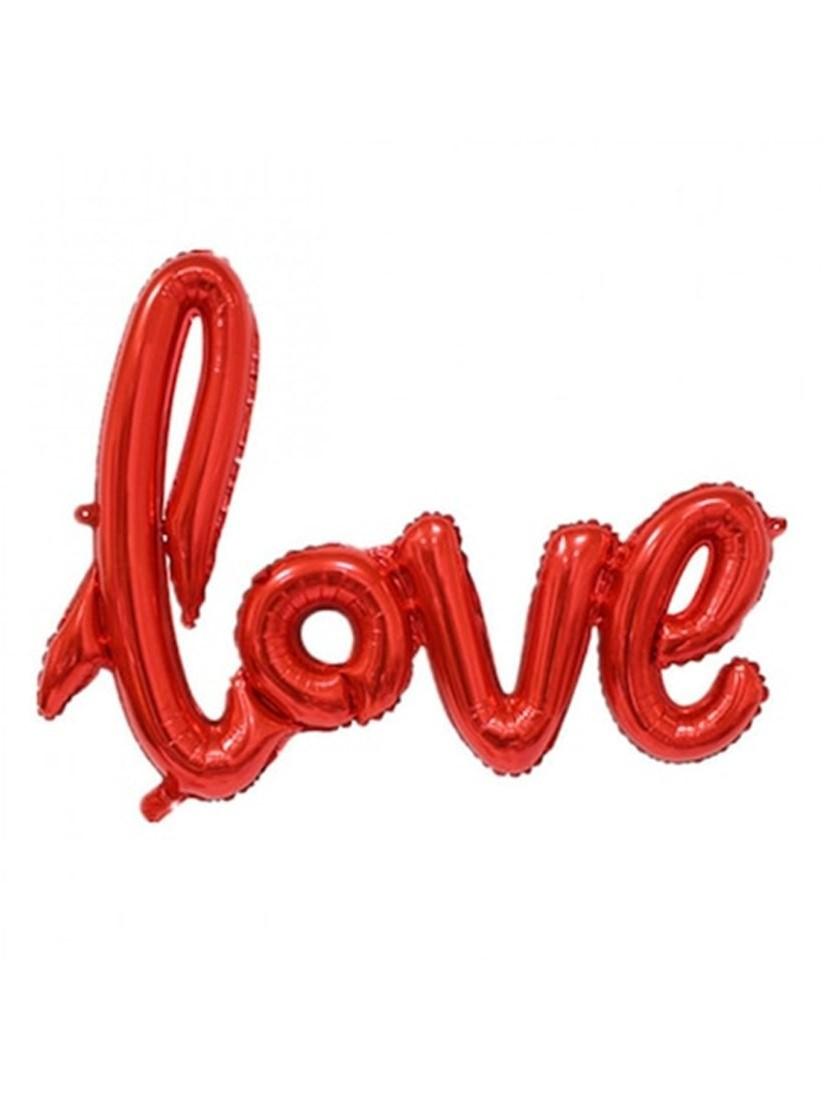 Valentin napi LOVE feliratú lufi, óriási méretben, héliummal töltve