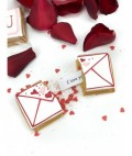 Love message in an edible envelope