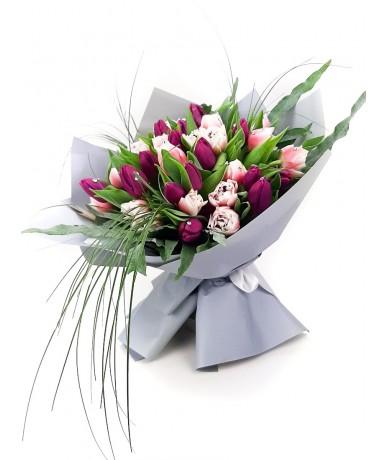 Swarovski kristályok 30 szálas tulipáncsokron