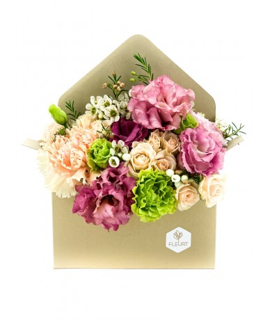 Flowers in an envelope
