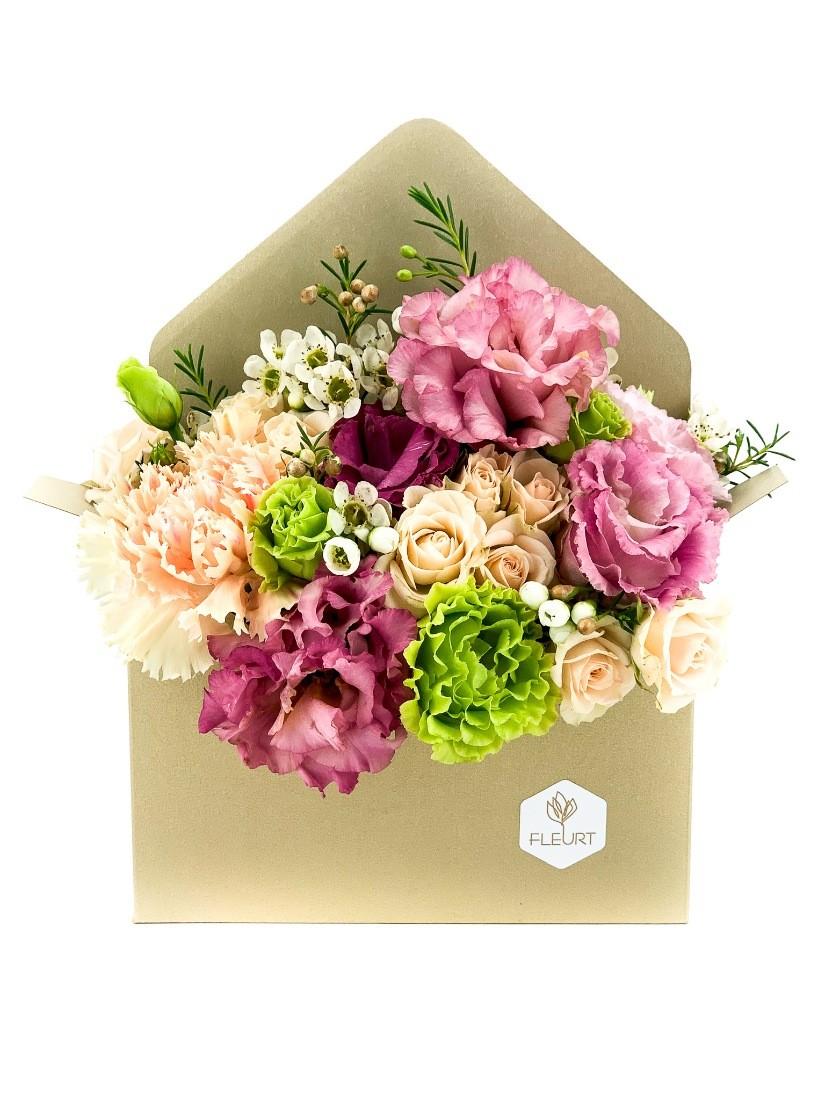 Vegyes virágok borítékban