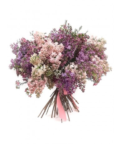 Branch of Lilac – beautiful Mother«s Day bouquet from pink and purple lilacs