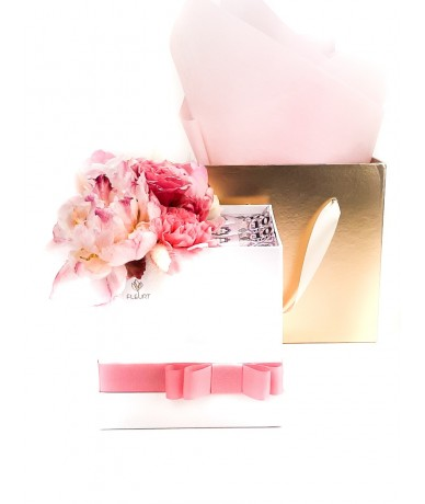 Stylish flower box with money for girls
