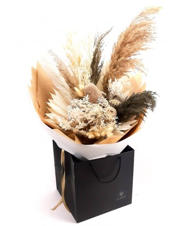 Pampas grass and dried flowers - hand tied bouquet